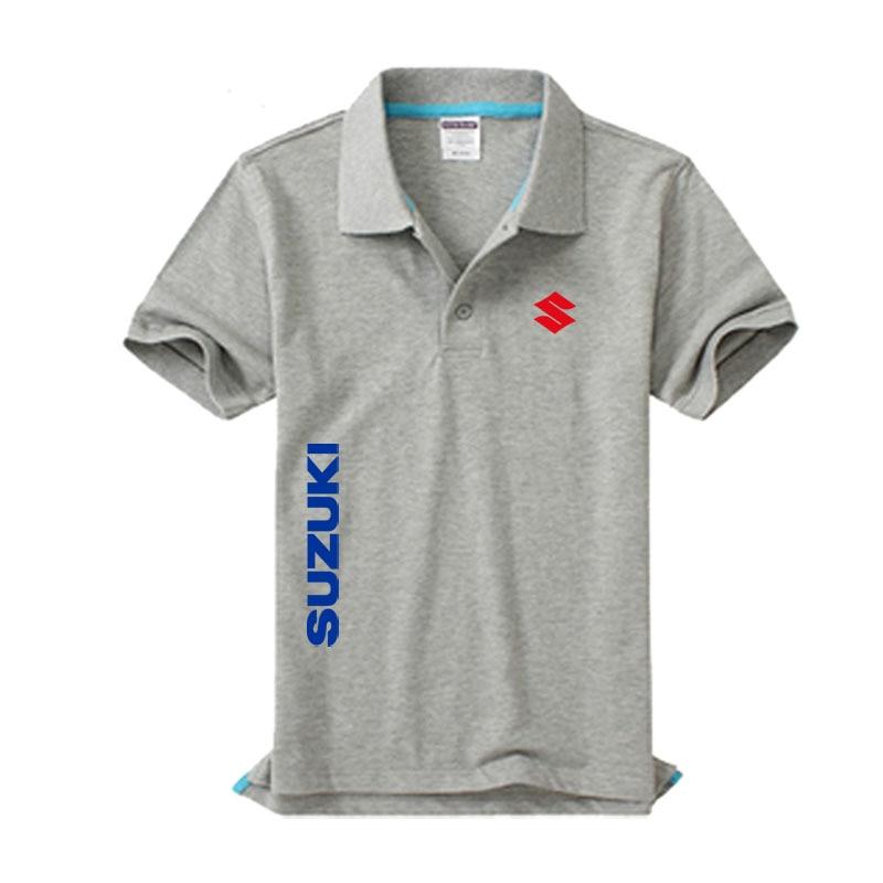 New Suzuki logo Men's   Polo   Shirt High Quality Men Cotton Short Sleeve shirt Brands jerseys