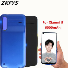 ZKFYS 6000mAh Large Capacity Ultra Thin Fast Charge Battery Cover For Xiaomi 9 Charging Box High Quality Back Clip Case