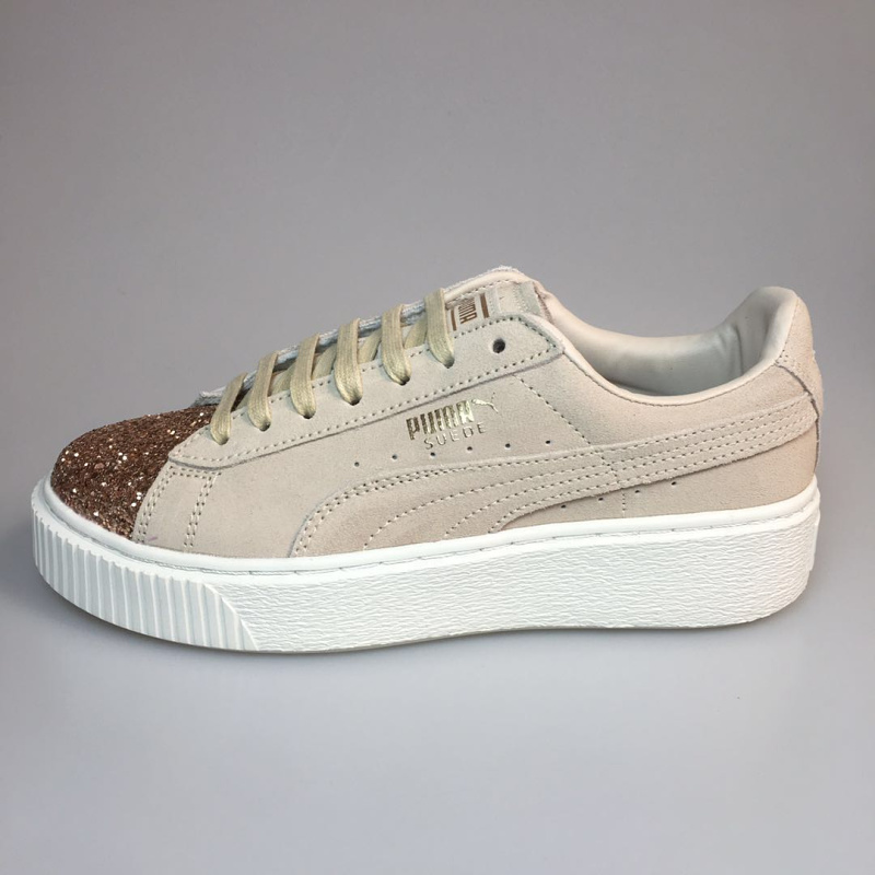 d66d6f2bd292 2018 New PUMA Suede Platform Crushed Jewel Women s Sneakers Rihanna classic  color tone simple Badminton Shoes Size 35.5 40-in Badminton Shoes from  Sports ...