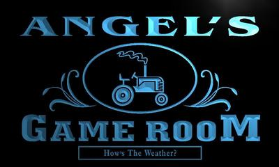 x0203-tm Angels Game Room Farmers Inn Custom Personalized Name Neon Sign Wholesale Dropshipping On/Off Switch 7 Colors DHL