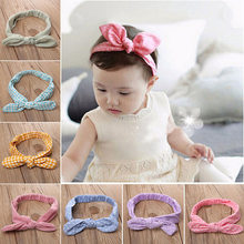 2018 New Toddler Infant Kids Baby Girls Headband Hair band Cute Bunny BowKnot Hair Band Accessories Headwear Baby Girl(China)