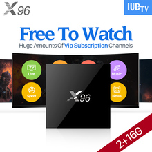 IPTV Europe 2000 Channels 2GB X96 Android 6.0 Smart TV Box 3 6 12 Months IUDTV IPTV Subscription French Sweden Arabic IPTV Box(China)