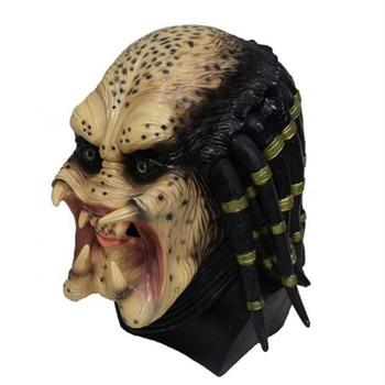 Realistic Halloween Cosplay Deluxe Predator Skeleton Carnival Party  Alien Mask