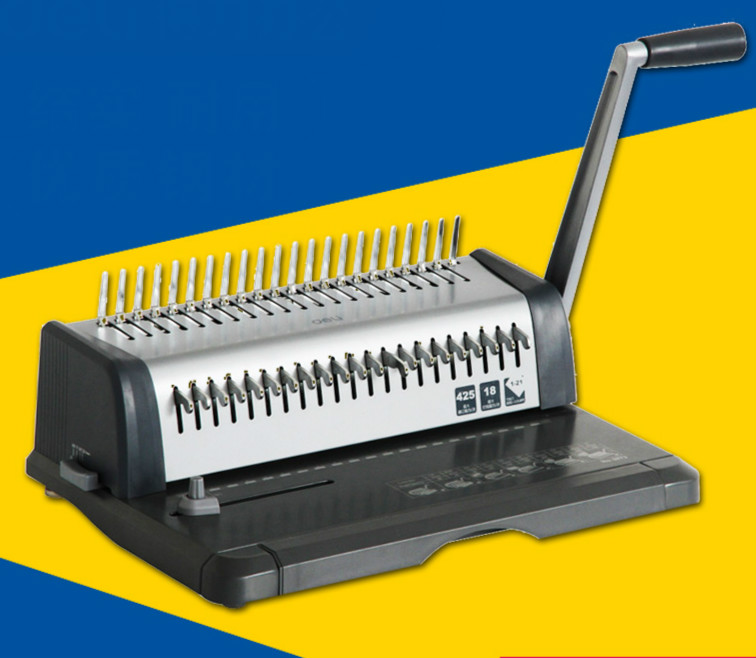 DELI 3873 heavy duty comb style binding machine 21 hole punch machine a4 size comb type binding machine mars 230 manual rubber ring clamp dual use machine 21 hole file punch binding machine 1pc