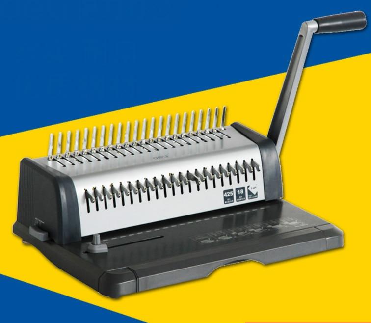 DELI 3873 Heavy Duty Comb Style Binding Machine 21 Hole Punch Machine