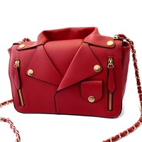Designer Handbags High Quality Women Leather Jacket Bags Women Clothing Shoulder Messenger Bag Day Clutch Purse