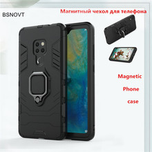 For Huawei Mate 20 Case Shockproof Magnetic Finger Ring Armor Cover Funda BSNOVT