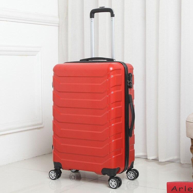Trolley Hohe Kapazität Aluminium Rahmen Kreative Rollen Gepäck Spinner Koffer Räder Bunte Tragen auf Trolley Reisetasche - 5