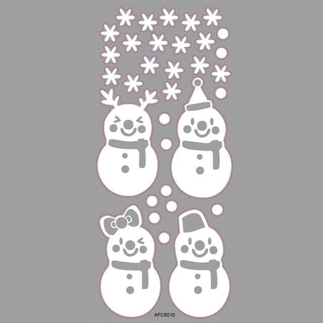 Christmas Glass Door Windows Stickers 8