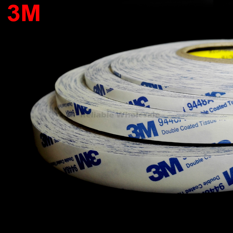 Original 3M White Strong Acrylic Glue Tape For Samsung Iphone Cellphone Tablet Camera Lens Display Bezel Battery Fix 9448 Scotch