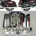 Motorcycle Chrome Saddlebag Lids Hardware locks Latch Set Cover fits for Harley Touring Models Road King Electra New