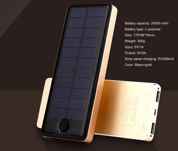 solar panel power bank 20000 mah 2