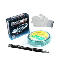1/8/3.5mm 50m Wide Design Line Knifeless Tape Cutting Tape Wrap Film Car Wrapping + air bubble release pen + Glove