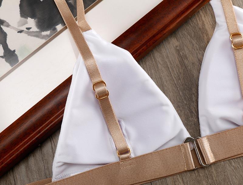 ALI shop ...  ... 32834293875 ... 4 ... Biqueno`s Secret White Velvet Swimwear Women Bikini 2019 Hot Bandage Brazilian Biquinis Set Sexy Low Waist Bathing Suit Swimsuit ...