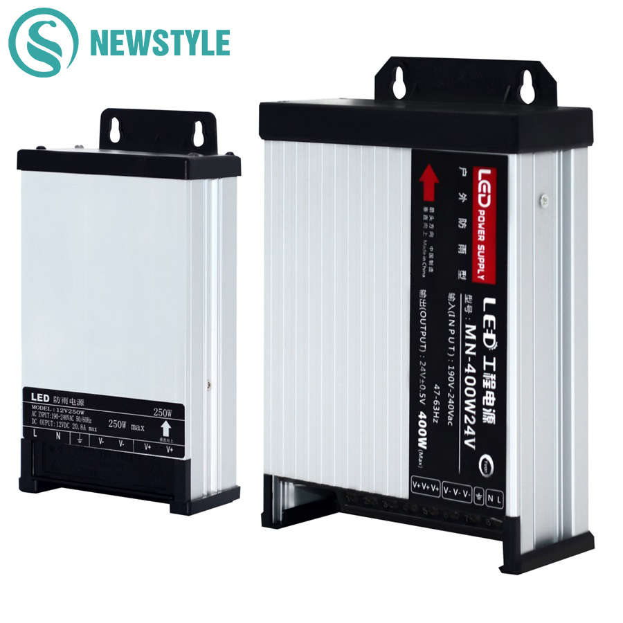 LED Outdoor Rainproof Power Supply DC12V 60W 120W 200W 250W 400W DC24V LED Driver Lighting Transformers|Lighting Transformers| |  - title=