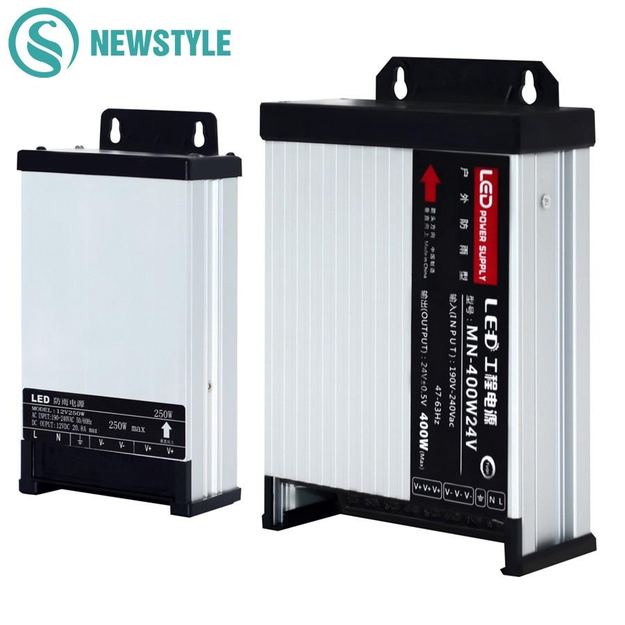 LED Outdoor Regen Netzteil DC12V 60 watt 120 watt 200 watt 250 watt 400 watt DC24V Led-treiber Beleuchtung transformatoren
