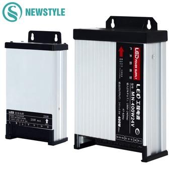 LED exterior impermeable fuente de alimentación DC12V 60W 120W 200W 250W 400W DC24V LED controladores de iluminación transformadores