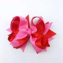1PCS 5 Inches  Solid Hair Bows  Hair Clips  Hairpins Multicolor Children Headwear hair bows for girls Hair Accessories цена