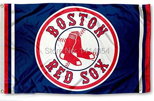 Boston Red Sox column Flag 150X90CM MLB 3x5 FT Banner 100D Polyester flag grommets 09, free shipping