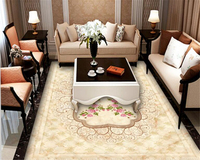 Beibehang Custom High Quality European Classic Wall Paper Stone Pattern Jade Parquet 3d Flooring Tiles Papel