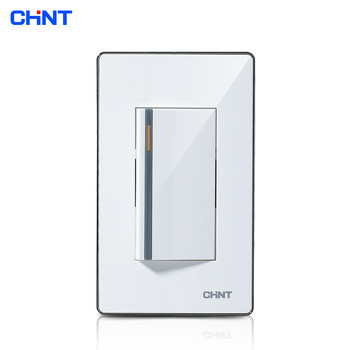 CHINT Modern Light Switches 120 Type/NEW9E Series One Gang Two Way Switch chint new2k illuminated switch wall switch socket light champagne gold four gang two way