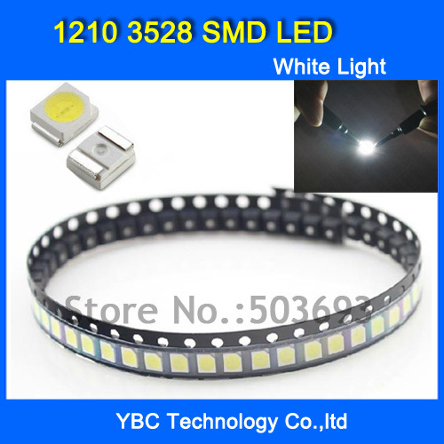 Transistors Electronic Components & Supplies 1000pcs/lot 1210 3528 Smd Led Ultra Bright White Light Diode Wholesale Retail Dropship