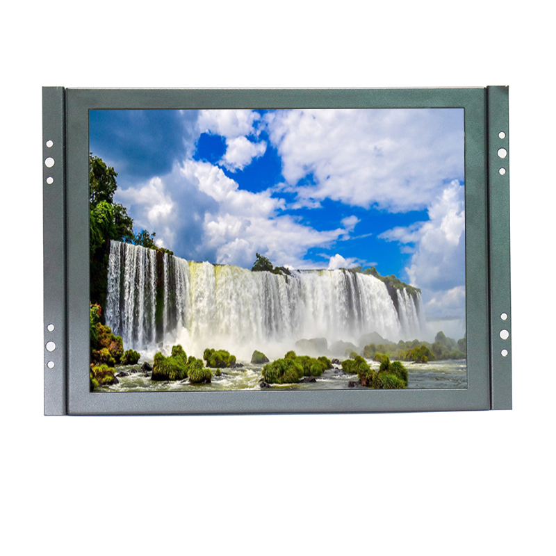 KF08 8 inch Open Frame Industrial Lcd Monitor Wall-hanging Metal Case Monitor with VGA/HDMI/BNC/USB/AV signal input