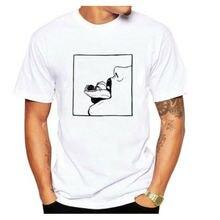 Hot Men's Women's T Shirt Lips Tongue Funny White Dress Crew Neck Short Sleeves Hot Sale white floral print crew neck short sleeves gym tops