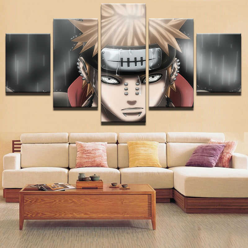 5 Pieces/set  Canvas Paintings Naruto Cartoon Poster Pictures for home decor print frame wall art WD-1211