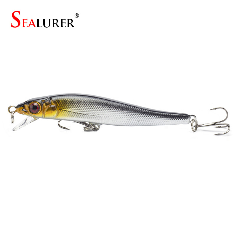 Sealurer Brand New Minnow Fishing Lures 8CM 5.7G 8# Hooks Fish Minnow Lure Tackle Hard Bait Pesca Wobbler Artificial Swim bait portable 2 layers many compartments visible pvc fishing lure bait hooks fish tackle box accessory storage box case fishing tool