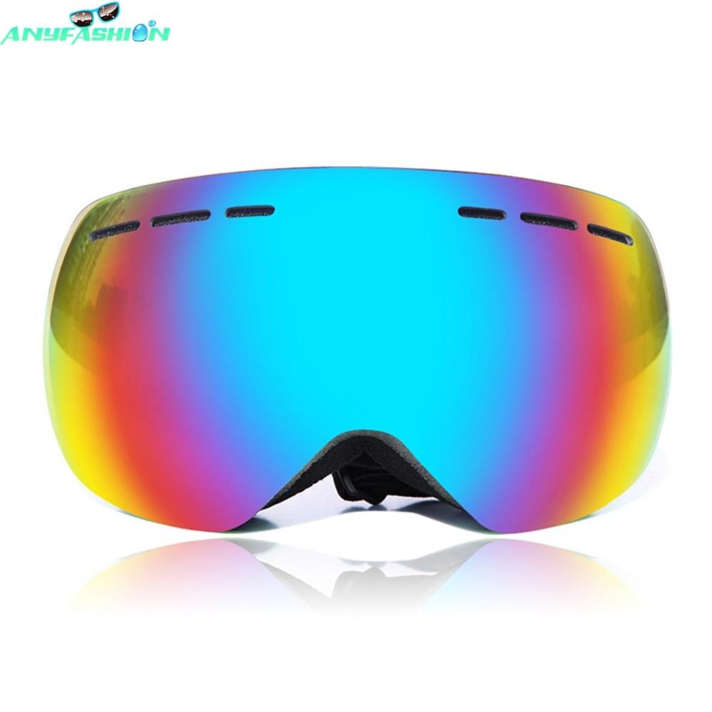 Prix pour Nouvelle marque ski lunettes double UV400 anti-brouillard grand masque de ski lunettes de ski hommes femmes neige snowboard lunettes