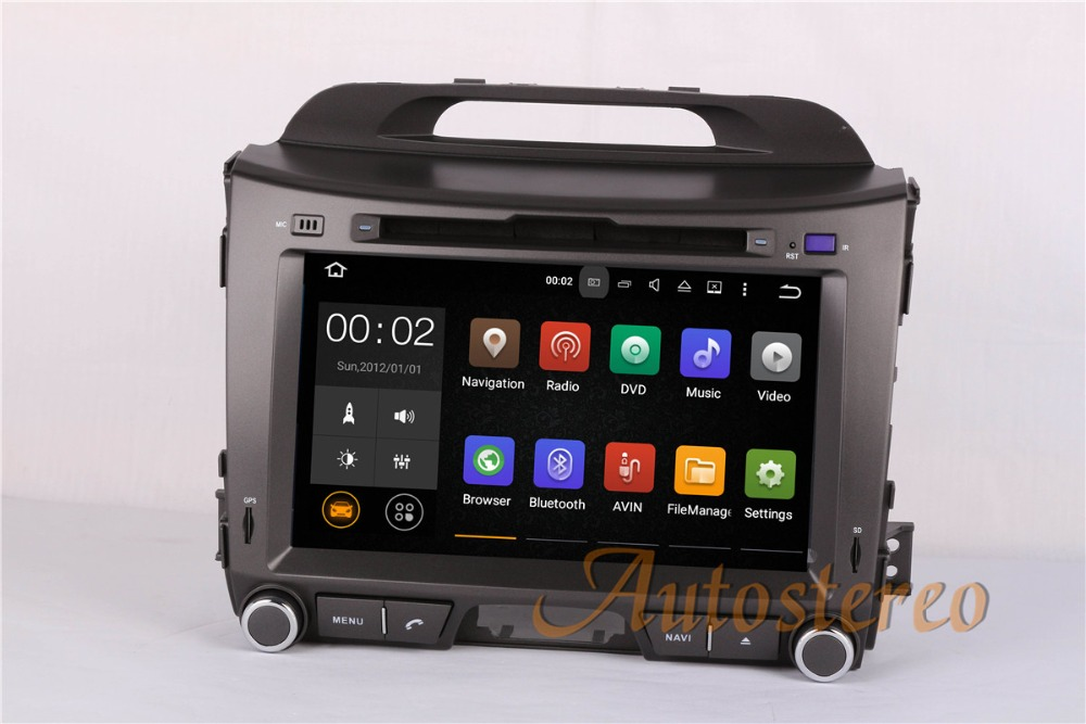 The newest Android 9 8 Core CPU Car GPS Navigation Car DVD Player For KIA SPORTAGE