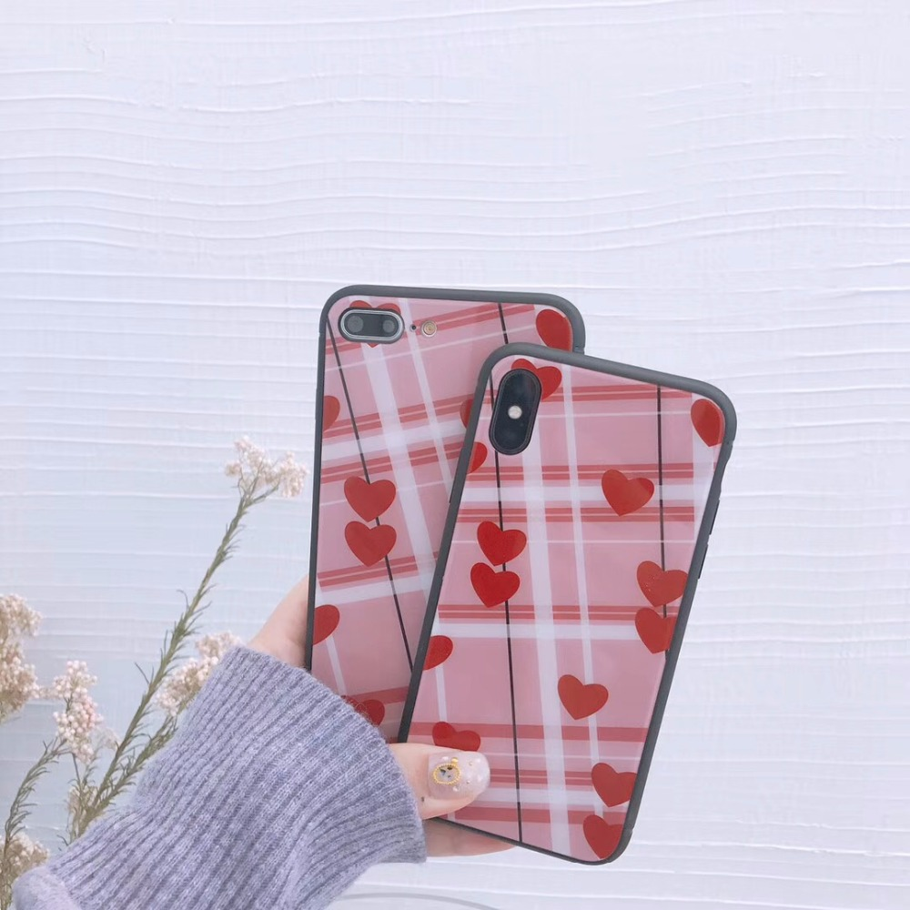 Cute Heart Case For iphone 6 6S 7 8 Plus X Fashion Back Cover ShellCute Heart Case For iphone 6 6S 7 8 Plus X Fashion Back Cover Shell