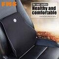 High Quality Universal Car Back Support Space Memory Fabrics Car Seat Support Cushion Lumbar Waist Back Support Lumbar Pillows
