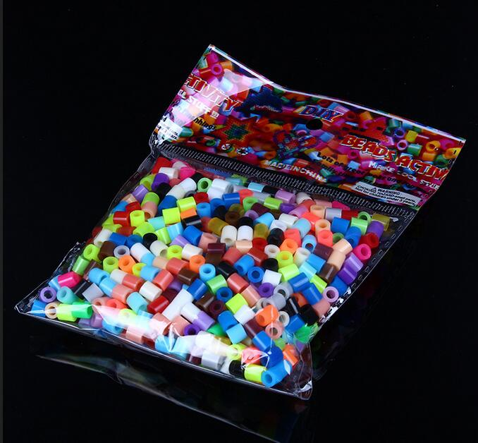 500pcs/bag 5mm hama perler beads EVA kids children DIY handmaking fuse bead Intelligence Educational Toys Craft