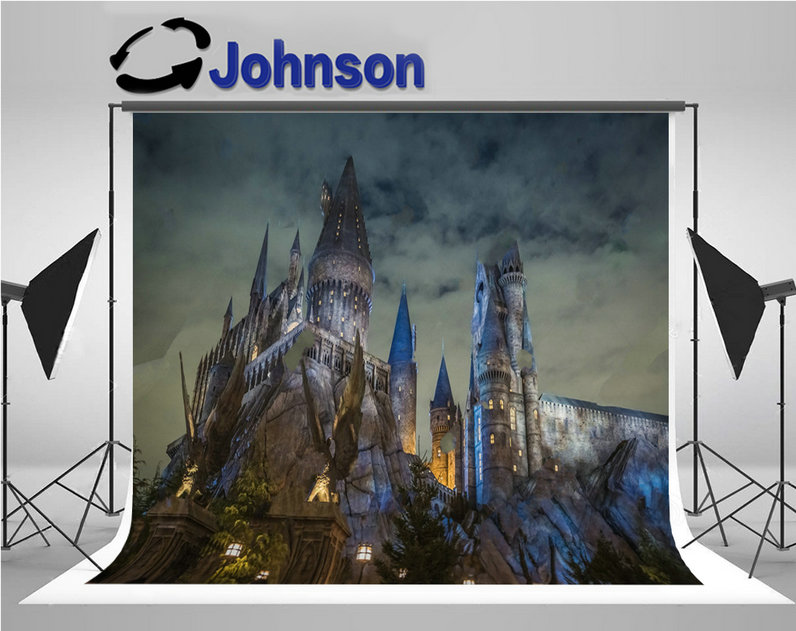 source Hogwarts School Witchcraft Harry Porter Castle background Vinyl cloth Computer pr ...