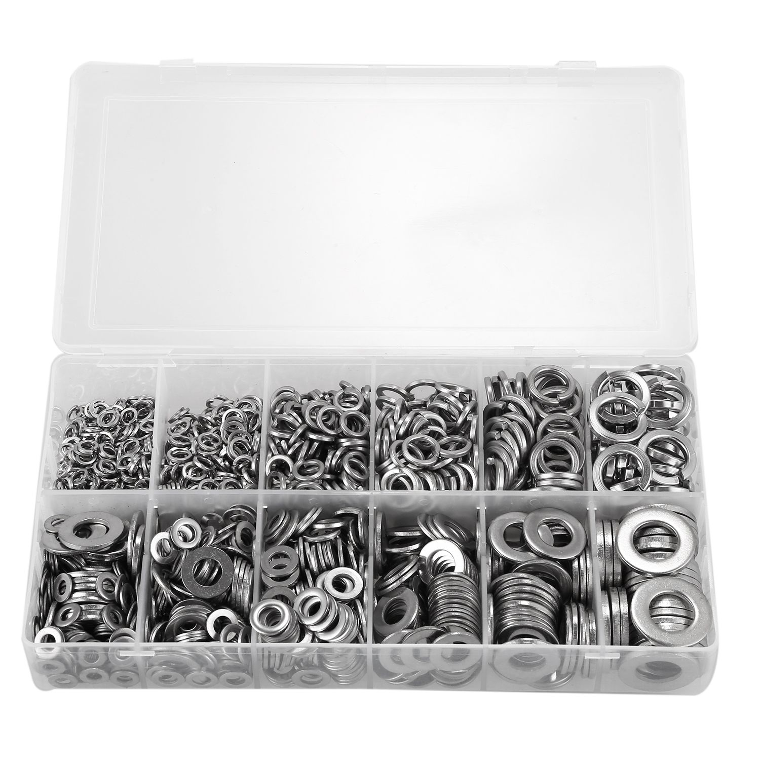 790 Piece Flat & Spring Stainless Steel Assorted Washers Rust Resistant