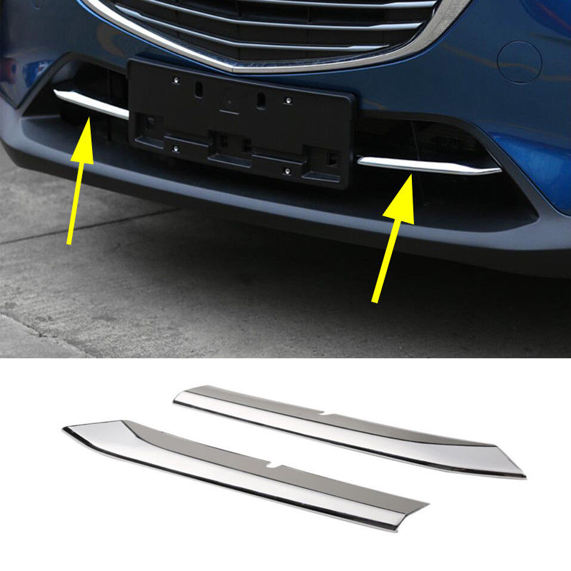Chrome Front Grill Cover For <font><b>Mazda</b></font> <font><b>CX3</b></font> <font><b>2016</b></font> - 2018 Bumper Air Inlet Grille image