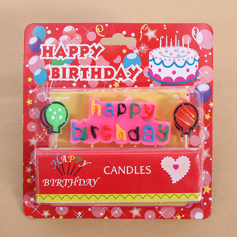 Letter Happy Birthday CandleCartoon Party Cake Decoration Baby Candle Supplies In Decorating From Home Garden On Aliexpress