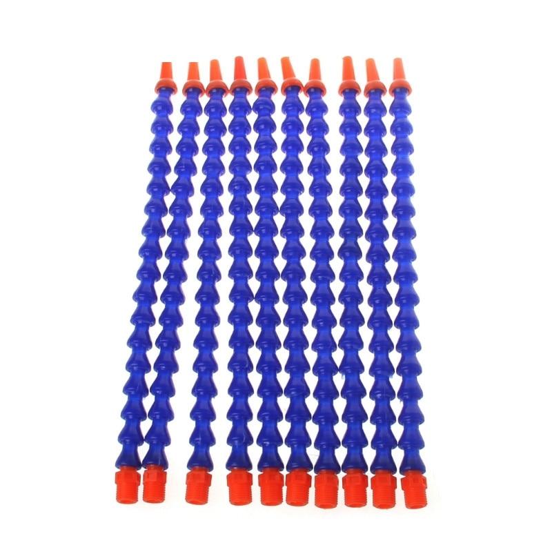 Bico redondo 1/4pt, bocal resfriador de óleo flexível, azul de laranja, com 10 peças