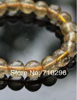 Oro Quarzo Rutilato naturale 12 MM Braccialetto Gioiello di pietra quarzo bracciali
