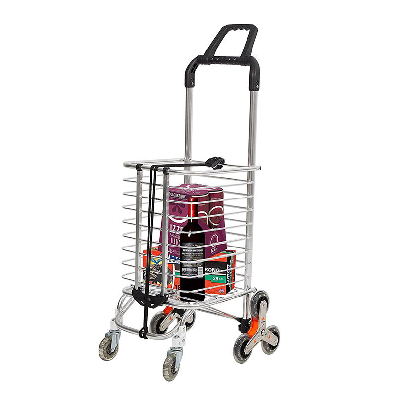 Heavy Duty Grocery Utility Folding Shopping Cart Trolley Truck with 8 Climber Wheels Trolley 110lbs 4 pcs heavy duty 200kg 50mm swivel castor wheels trolley furniture caster rubber