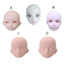 ZWSISU 4 Pcs/Set Doll Soft Plastic Barbiees DIY Head Makeup Practice Accessories For 1/6 Barbiees Generation Toy 5pieces lot soft plastic open eye practice makeup doll head 1 6 white double fold eyelid diy heads for barbies bjd make up