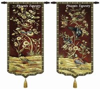 Birds And Flowers Landscape Size 95 46cm Home Textile Wall Hanging Tapestry Medieval Aubusson Other Home