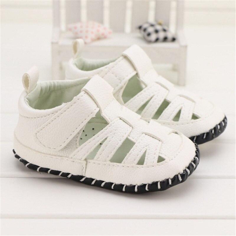 2016 Summer Baby Boy Shoes Plain White Fretwork Prewalker