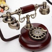 Antigua mesa giratoria de moda antiguo rústico vintage Teléfono de madera para el hogar