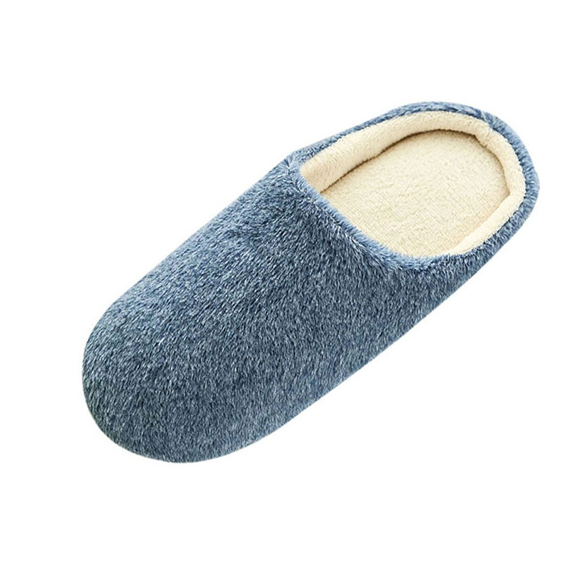 Men Warm Home Plush Soft Slippers Indoors Anti-slip Winter Floor Bedroom Shoes #A slipper