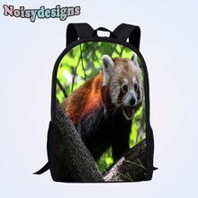 2959ac95b3 Noisydesigns Ailurus fulgens Animal Printed backpack boys schoolbags child  mochila Travel Women bag kids infantil school Bags