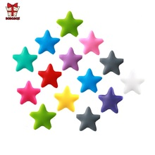 BOBO.BOX 10 pcs Star Silicone Beads Baby Teething BPA Free Food Grade Chew Necklace DIY