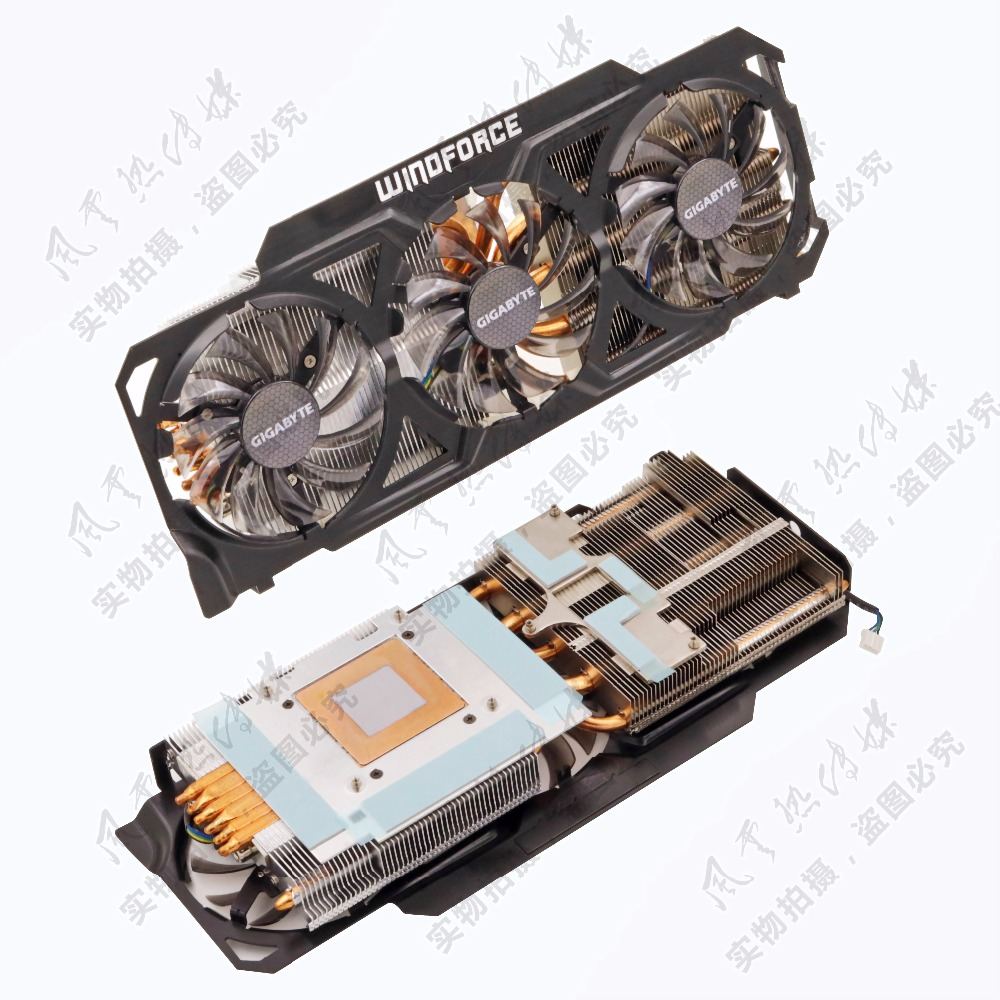 New Original for Gigabyte 3GD GV-N780OC-4GB GTX780 graphics radiator 6 heat pipe radiator cooler cooling fan new original for msi gtx780 gtx780ti gaming video card cooler cooling fan with heat sink